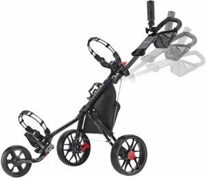 CaddyTek CaddyLite Deluxe Golf Push Cart