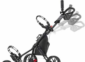 CaddyTek CaddyLite Deluxe Golf Push Cart Review 5