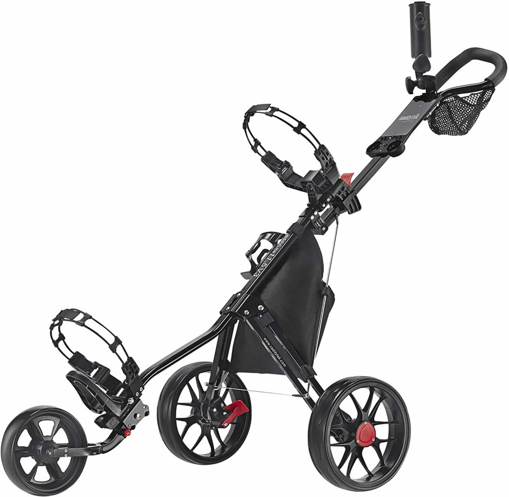 CaddyTek CaddyLite Deluxe Golf Push Cart Review